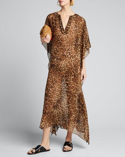 Erica Animal-Print Caftan Dress