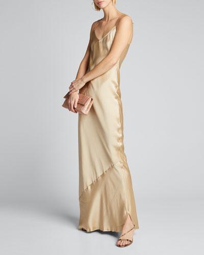 Cami Silk Bias-Cut Gown