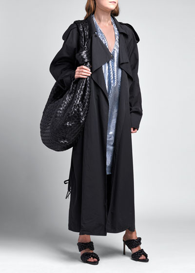 Compact Cotton Oversize Trench Coat