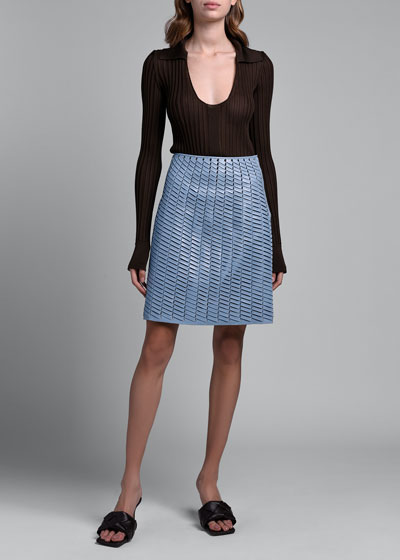 Leather Woven Skirt