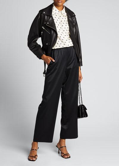 Polka-Dot Silk Twill Menswear Shirt