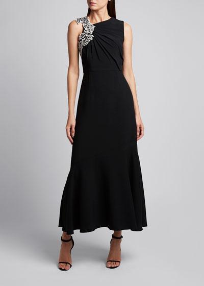 Sleeveless Viscose Blend Long Dress