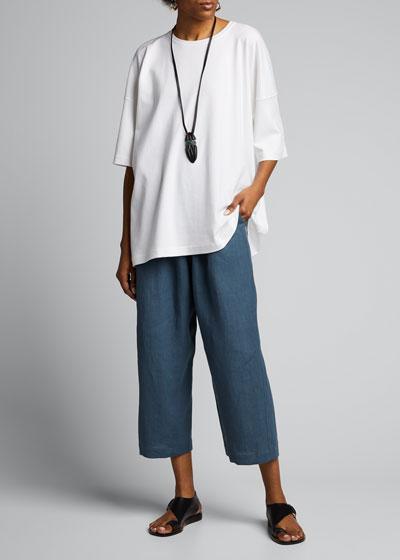 Crewneck Cotton Shirt