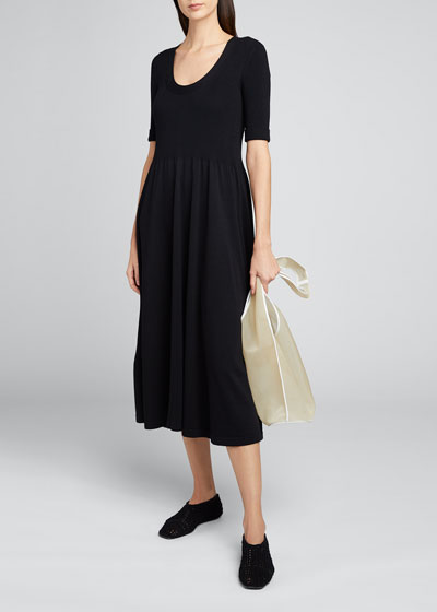 Zakaria Jersey 3/4-Sleeve Dress