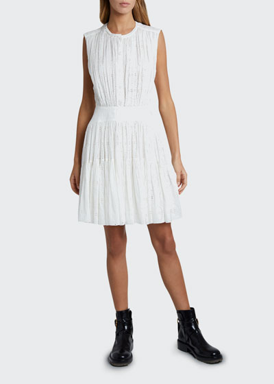Broderie Anglaise Fit-and-Flare Dress
