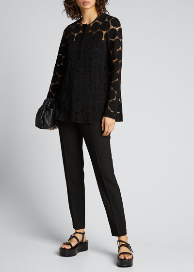 Dotted Lace Illusion Blouse