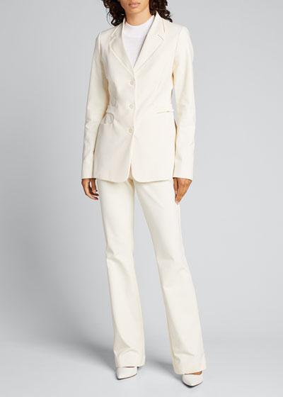 Trompe L'Oeil Belted Tailored Jacket