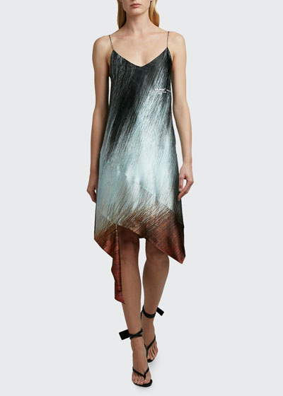 Bouroullec Spiral Satin Slip Dress