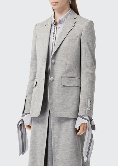 Tailored Jersey Blazer Jacket