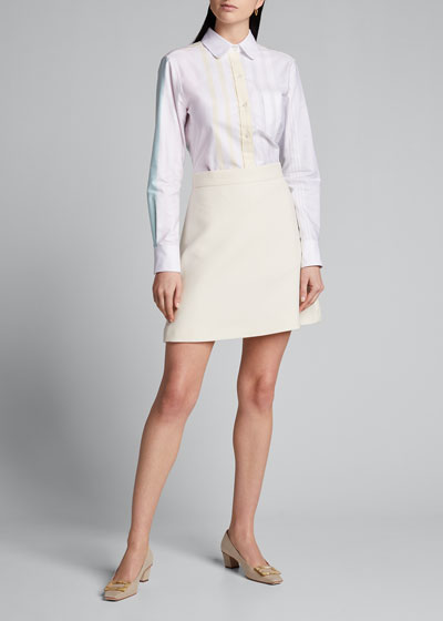 Classic Striped Button-Down Oxford Shirt