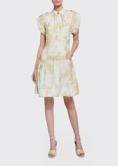 Printed Georgette Shirtdress