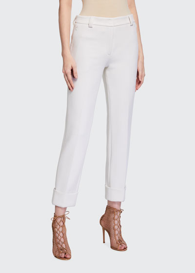 Maxima Slim-Fit Cropped Pants