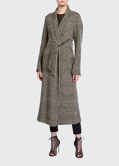 Cashmere-Wool Ankle-Length Coat