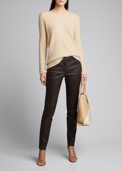 Magda Slim Napa Leather Pants