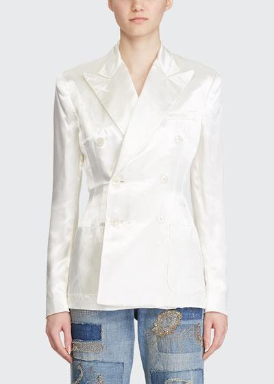 Leslie Satin Blazer Jacket