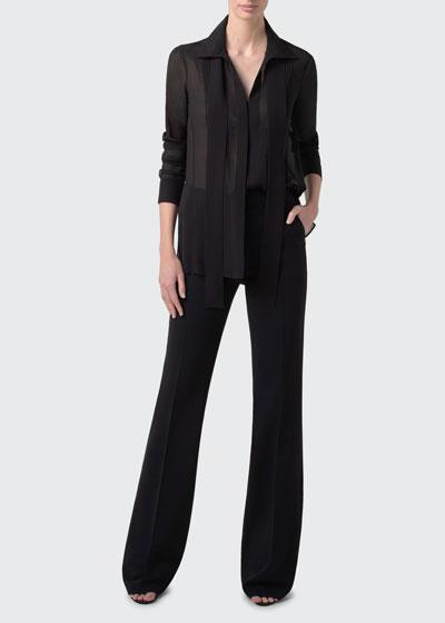 Silk Georgette Tunic Blouse