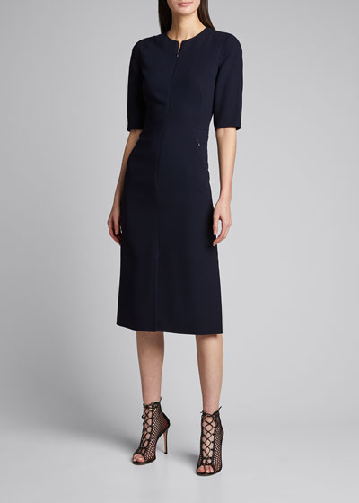 Wool Double-Face Sheath Dress