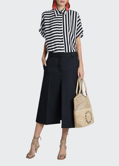 Striped Short-Sleeve Button-Down Shirt