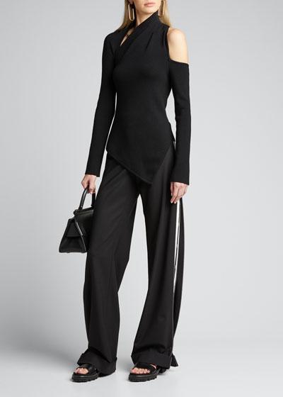 Sliced Asymmetric Merino Sweater