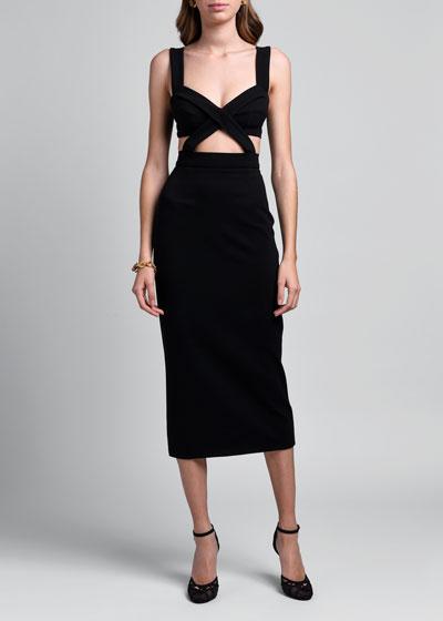 Sleeveless Jersey Stretch Dress