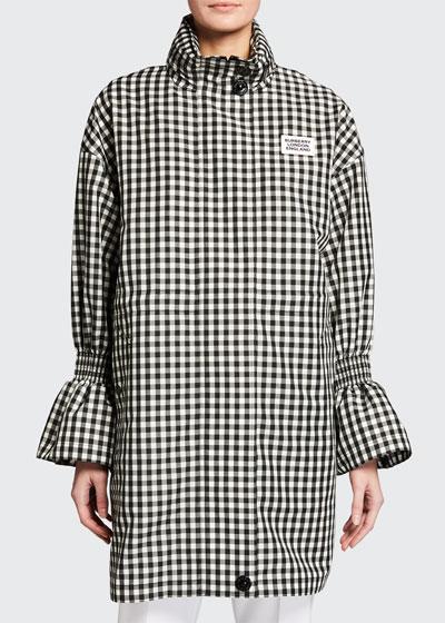 Neston Gingham Flare-Cuff Jacket