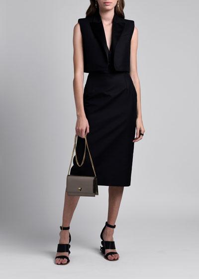 Removable Vest Layer V-neck Sleeveless Dress