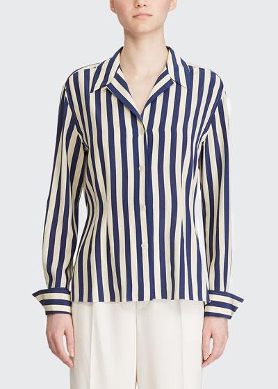 Vanna Striped Silk Shirt