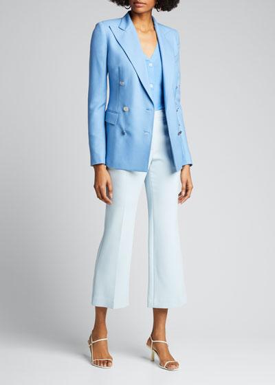 Silk Button-Front Cardigan