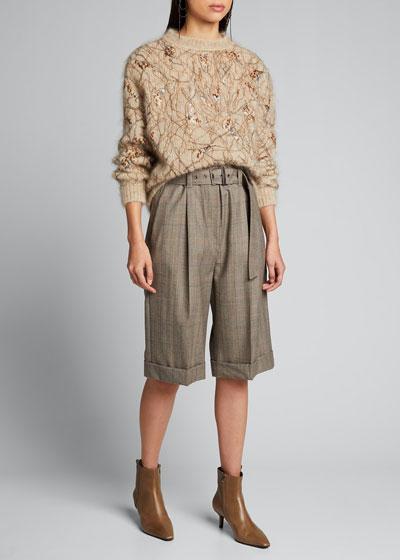 Wool Plaid Bermuda Shorts