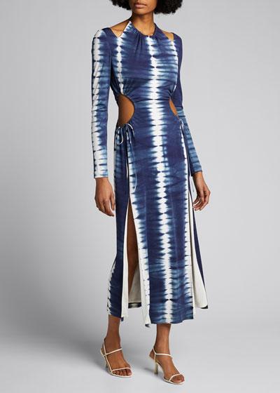 Tie-Dyed Cutout Maxi Dress