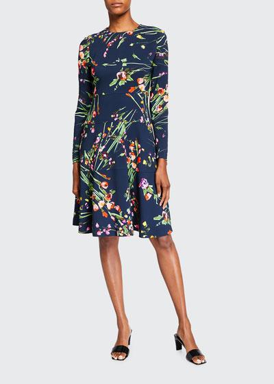 Tiered Long-Sleeve Dress