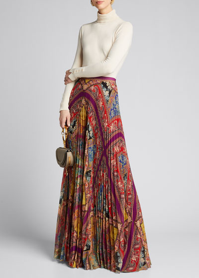 Stained Glass Accordion Pleated Skirt