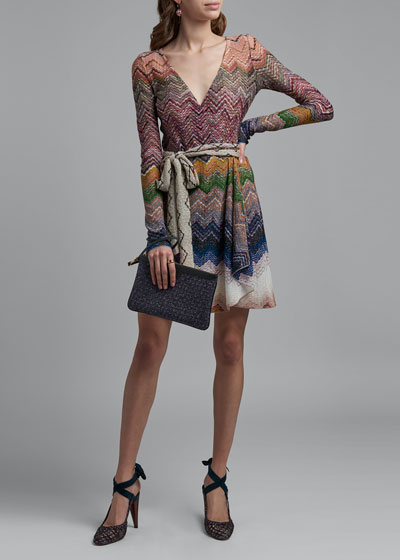 Zigzag Tie-Neck Dress