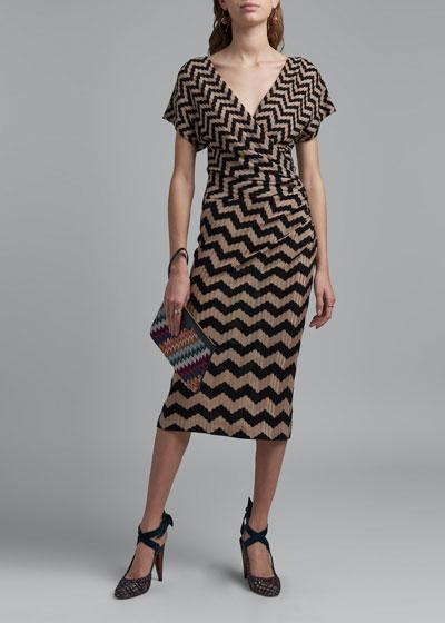 Zigzag Knee-Length Dress