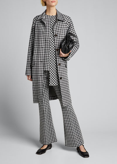 Checked Cocoon Coat
