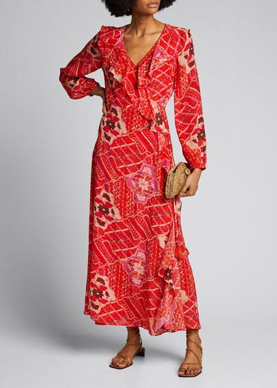 Arabella Striped Jersey Dress