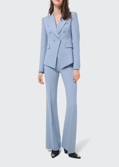 Brooke Side-Zip Double Crepe Sable Pants