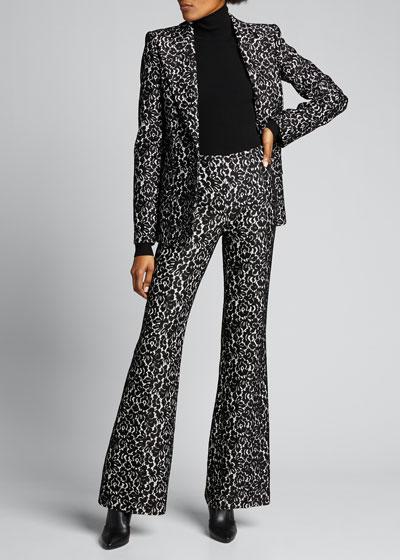 Brooke Bonded Lace Side-Zip Pants