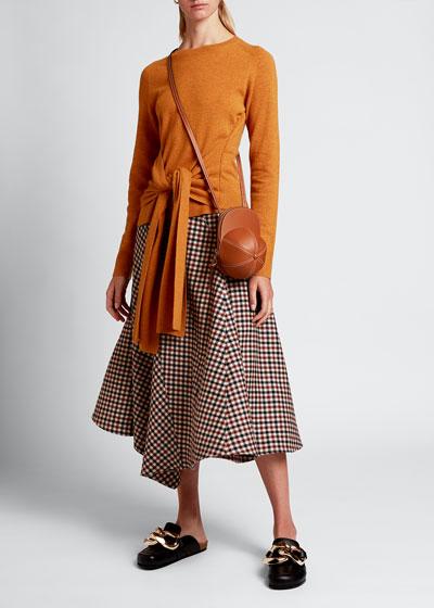 Wool Waist-Tie Sweater
