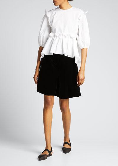 Mille Velvet High-Rise Shorts