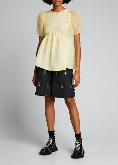 Millie Floral Wide-Leg Shorts