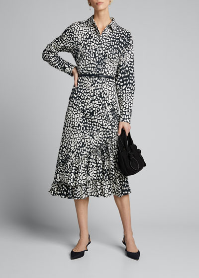 Lipari Graphic Leopard-Print Dress