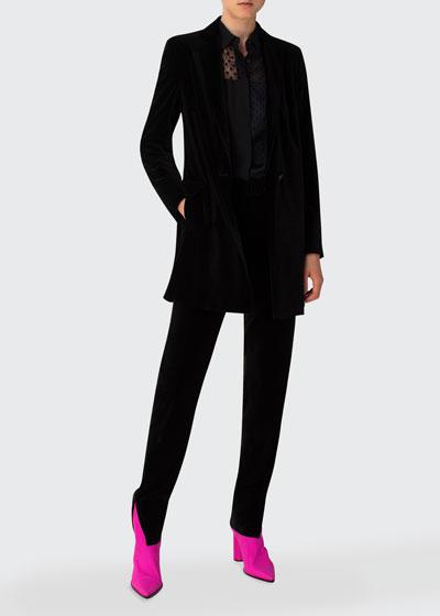 Tailored Velvet Blazer