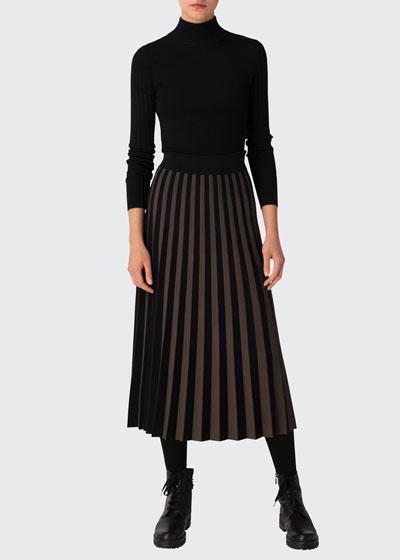 Contrast Stripe A-line Skirt