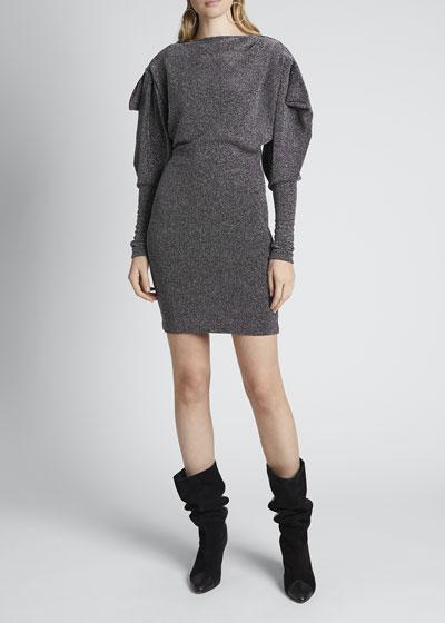 Metallic Ruched Dress