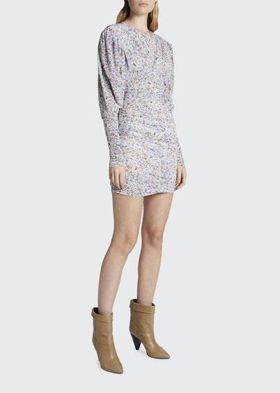 Floral Print Jersey Mini Dress