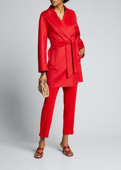 Rossana Cashmere Tie-Waist Coat