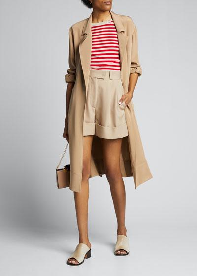 Stagno Silk-Cashmere Short-Sleeve Sweater