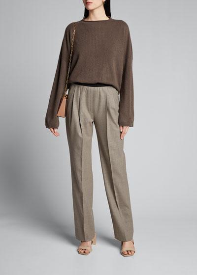 Elastic-Back Trousers