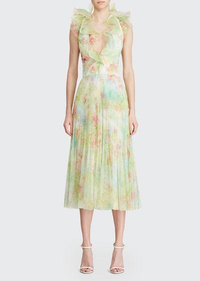 Tasha Ruffled Chiffon Dress
